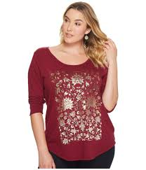 floral foil lyst lucky brand plus size floral foil in save 35