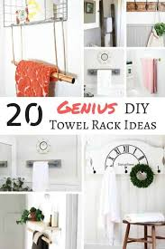 these diy towel rack ideas are genius find the perfect one for your bathroom