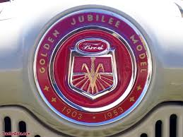 badge on the 1953 ford golden jubilee tractor