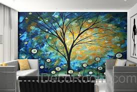 3d starry trees lolliepop flower wall mural wallpaper wall decals