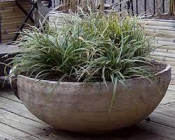 ornamental grasses in wooden planter jpg from sustain landscape