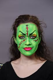 blacklight female frankenstein halloween makeup video tutorial