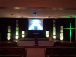 Church Pew Home Decor Small Church Sanctuary Design Ideas