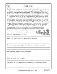 reading comprehension grade free printable 5th grade reading worksheets word lists and