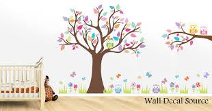 Nursery Wall Decal Wall Decal Source Tree And Owl Nursery Wall Decal Reviews Wayfair