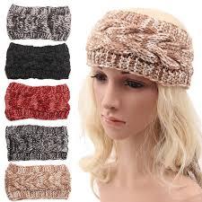 bohemian headbands fashion women wool crochet headbands knit hair band girl