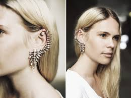 wearing ear cuffs the earring cuff h levine
