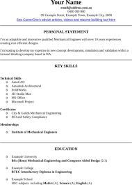Resume Template Engineer Mechanical Engineer Resume Skills Mechanical Engineering Resume