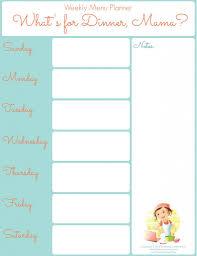 printable weekly menu planner weekly menu planners menu