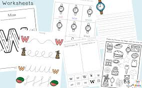letter w worksheets for preschool kindergarten fun with mama
