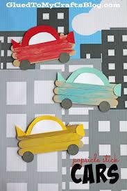 popsicle stick cars kid craft cars craft and stick crafts