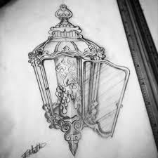 burning candle antique lantern tattoo golfian com
