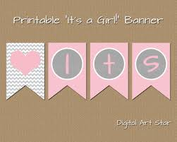baby shower banner diy printable baby shower banner diy its a girl banner pink