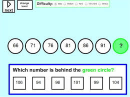 sequences and patterns in math online worksheets