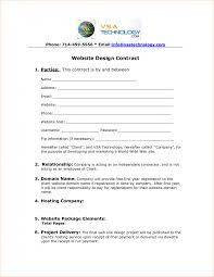 email contract template with 7 web design contract template