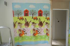child s farm mural warwickshire painter hilary wilson art this is the duvet cover that the child s farm mural was based on