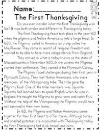 read for the history of the thanksgiving teaching