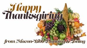 thanksgiving schedule macon bibb county planning zoning