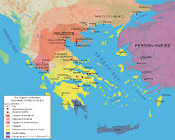 Blank Map Of Ancient Greece Macedonian Conquest Boundless World History