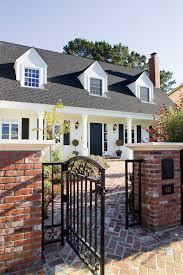 white brick house exterior mediterranean with