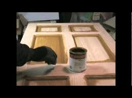 Polyurethane Cabinet Doors Stain And Polyurethane How To Youtube