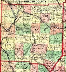 mercer map mercer county pennsylvania maps and gazetteers