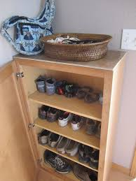 Storage On Top Of Kitchen Cabinets Turning A Kitchen Cabinet Into Shoe Storage