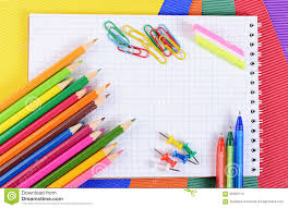 colored writing paper color pencils on paper with notebook stock photo image 59460116 color colored multi notebook paper