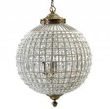 large crystal ball pendant lamp glass beads metal nordal