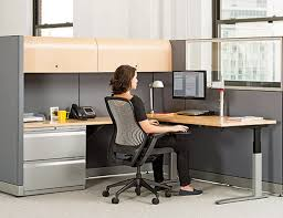 Standing Height Table by Universal Height Adjustable Tables Knoll