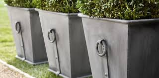 Square Metal Planter by Estate Zinc Ring Square Planters Restoration Hardware Barn