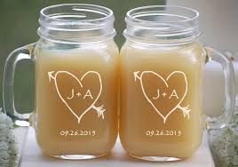 wedding gift glasses engagement gift glasses 2 engraved jar mugs couples gift