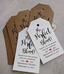 wedding gift tags the blend wedding favor tags 30 tags wedding