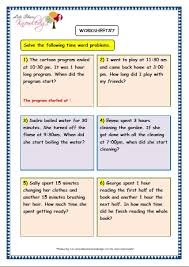 free worksheets time word problems worksheets grade 3 free