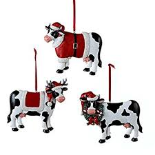 cow ornament 3 assorted by country