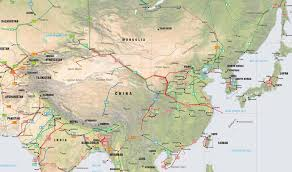 Map Of Asia With Cities by Shenyang Map