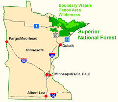 Minnesota Topographic Map Superior National Forest Maps U0026 Publications
