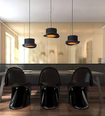top hat pendant light u2014 black and gold scenario home