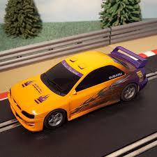 purple subaru impreza scalextric 1 32 car orange purple subaru impreza wrc street