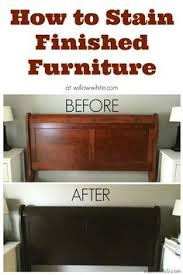 how to refinish cherry wood cabinets gel stain cherry to espresso sleigh bed before and after