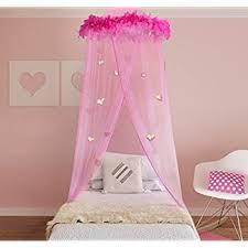 Princess Canopy Bed Boho And Princess Feather Boa Bed Canopy
