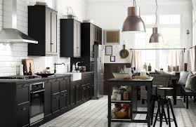 Stained Kitchen Cabinets by Black Stained Kitchen Cabinets Design Modern Wooden Plus Chrome