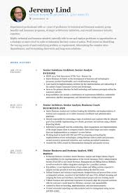 Business Systems Analyst Resume Examples by Senior Analyst Resume Samples Visualcv Resume Samples Database