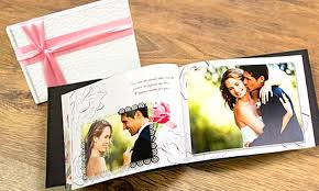 Wedding Album Printing Personalised A4 Wedding Photobook Groupon Goods