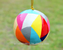 multicolored handmade christmas decorations papier mache