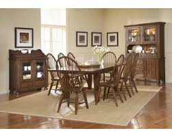 attic heirlooms dining table attic heirlooms rustic oak rectangular leg dining table by broyhill