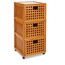 meubles en bambou rangement salle de bain bambou