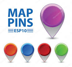 Map Pins Vector Pointers Map Pins U2014 Stock Vector Isakovav 9932015