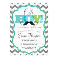 mustache baby shower invitations mustache baby shower party invitations