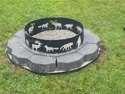 Personalized Fire Pit by Outdoor Custom Metal Fire Pit With Round Stoned Fire Pit And